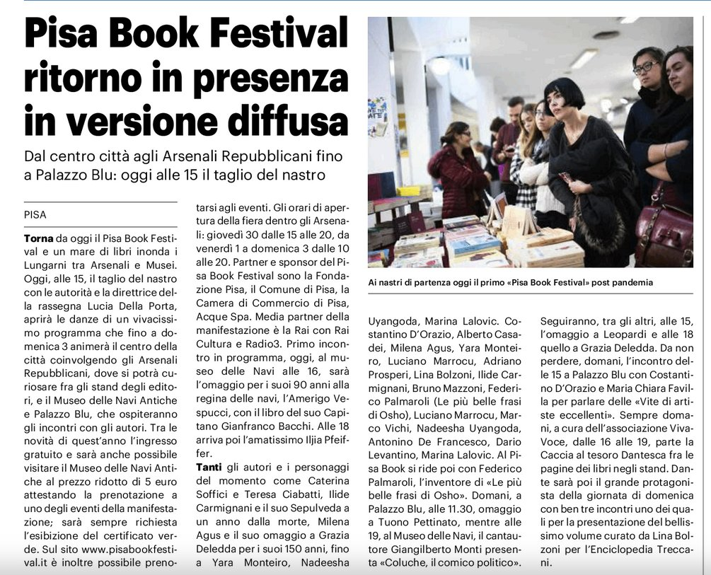 VivaVoce al Pisa Book Festival
